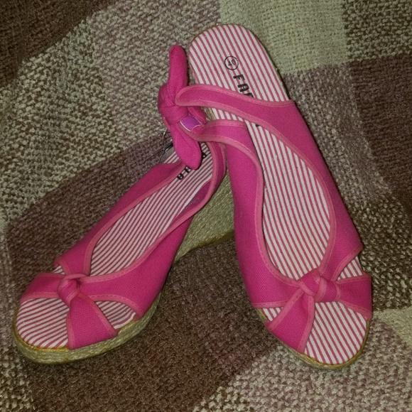 Pink Peep Toe Wedge  5594704525